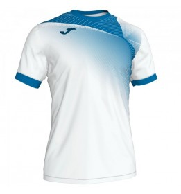 CAMISETA HISPA II BLANCO-ROYAL M/C
