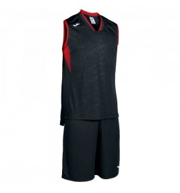 SET BASKET CAMPUS NEGRO-ROJO S/M